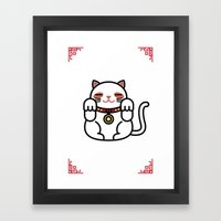 Cats. Framed Art Print
