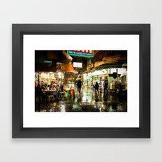 Hong Kong Cafe Yellow Framed Art Print