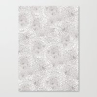 Flowers in lines Canvas Print