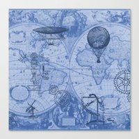 Steampunks in Blue Canvas Print