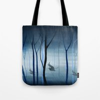 Witches Flying Low Throu… Tote Bag