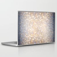 glitter Laptop & iPad Skins featuring Glimmer of Light (Ombré Glitter Abstract) by soaring anchor designs