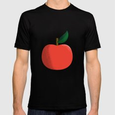 Apple 01 SMALL Black Mens Fitted Tee