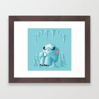 somewhere on the ice planet Framed Art Print