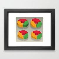 Data Deflated (Pt II) Framed Art Print