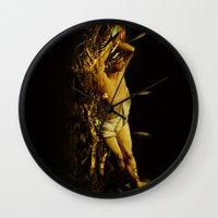 Massacre Of Saint Sebast… Wall Clock