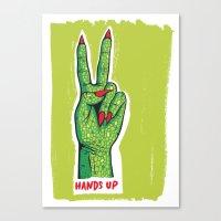 Hands Up Canvas Print
