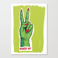 Hands Up Canvas Print