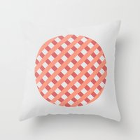 striped circle I Throw Pillow