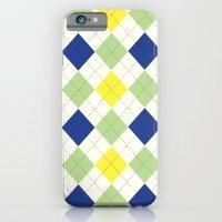 Argyle Plaid In Blue, Gr… iPhone 6 Slim Case