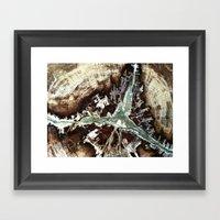 Green Vein Framed Art Print