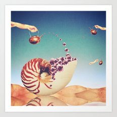Surreal Shell Garden Art Print