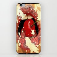 Red Cherry Lips iPhone & iPod Skin
