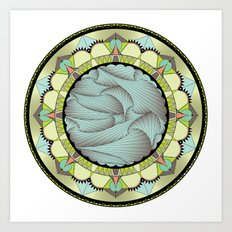 Spring Mandala Art Print