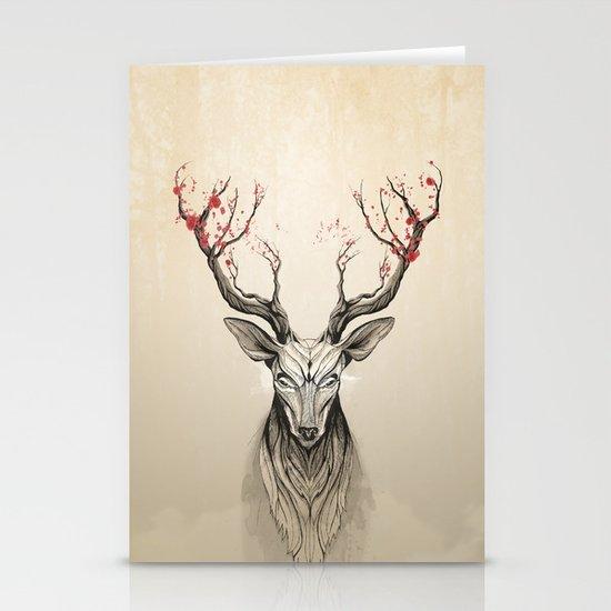 Deer tree Stationery Card
