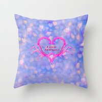 Love Stings Throw Pillow