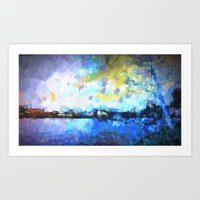 Chelan Winter Impression Art Print