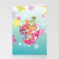 Sailor Moon Dots Team Stationery Cards