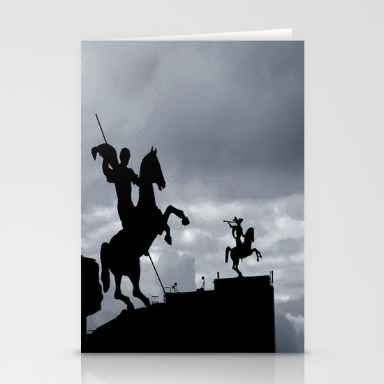Warriors of time Stationery Card