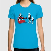 Biker Scout Wannabe Womens Fitted Tee Teal SMALL