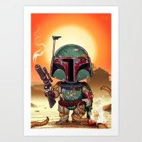 Boba Fett On Tatooine Art Print