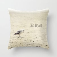 Just Breathe Throw Pillow