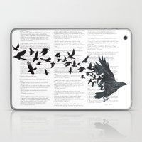 Vintage Style Print with Poem Text Edgar Alan Poe: Edgar Alan Crow Laptop & iPad Skin