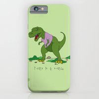 iPhone & iPod Case featuring T. Rex in a V-neck by The Drawing Beard