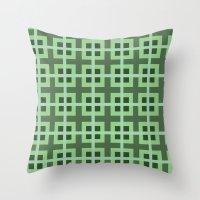 Pattern Green Throw Pillow