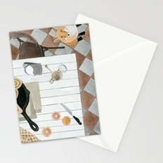 Breakfast and Fox Stationery Cards