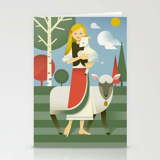 Mary Stationery Card