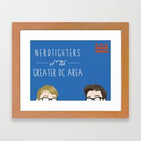 Nerdfighters of the General DC Area Framed Art Print