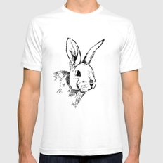 Rabbit SMALL White Mens Fitted Tee