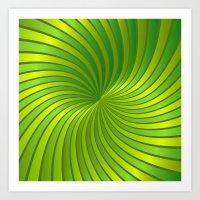 Spiral Vortex G319 Art Print