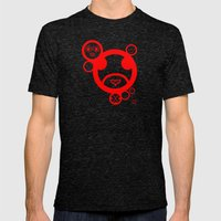 RED - Type Face Mens Fitted Tee Tri-Black SMALL