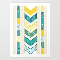 Sunshine Chevron Art Print
