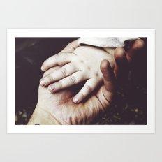 Hold My Hand Art Print