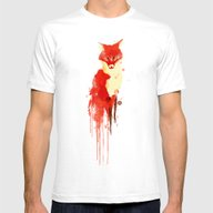 The Fox, The Forest Spir… Mens Fitted Tee White SMALL
