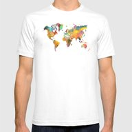 T-shirt featuring World Map 4 by Jbjart