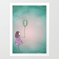 One Ballon Art Print