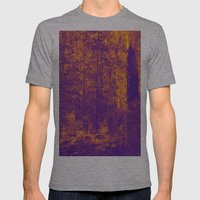 OVER THE RIVER AND INTO THE ABYSS Mens Fitted Tee Athletic Grey SMALL