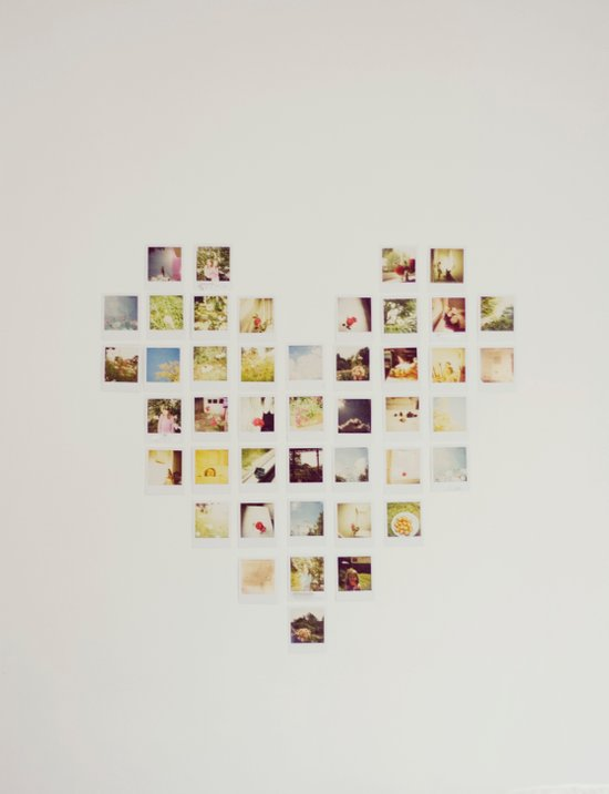 Polaroid Love Art Print
