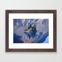 Ghost Ship, Creepy Crater Lake Framed Art Print