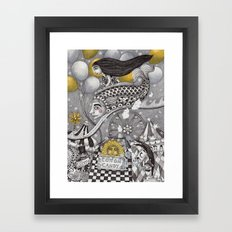 Roller Coaster Ride Framed Art Print