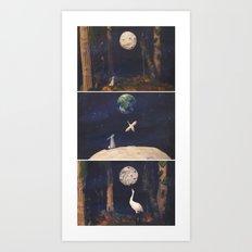 The Moon Rabbit Art Print