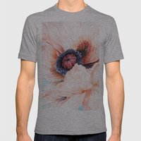 Oriental Poppy Mens Fitted Tee Athletic Grey SMALL