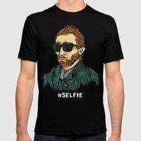 Van Gogh: Master of the #Selfie Mens Fitted Tee Black SMALL