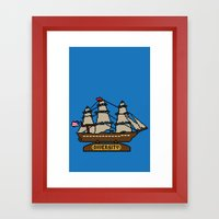 Anchor Pixel Framed Art Print