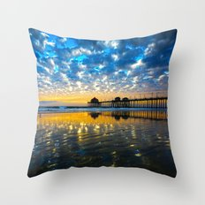 Huntington Beach Sunset … Throw Pillow