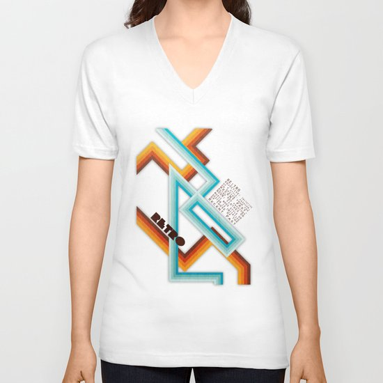 Retro Meaning V-neck T-shirt